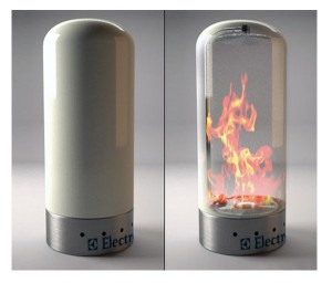 Portable Electrolux Fireplace Concept