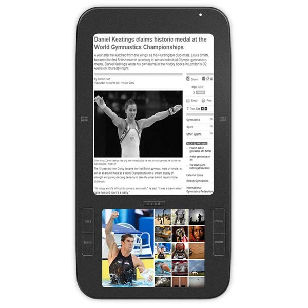 Spring Design Alex Google Android e-Book Reader