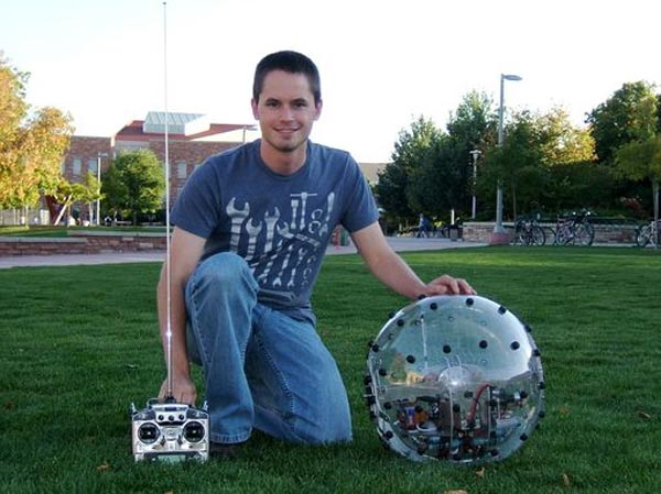 Student Builds Spherical Robot