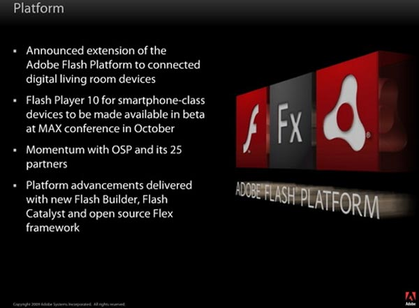 Adobe Flash Player 10.1 comes to Smartphones except the iPhone