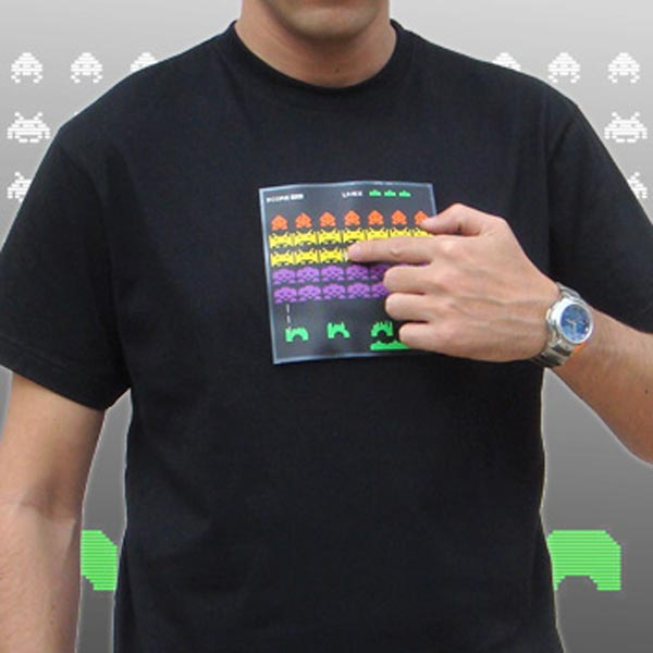 Animated Space Invaders T Shirt