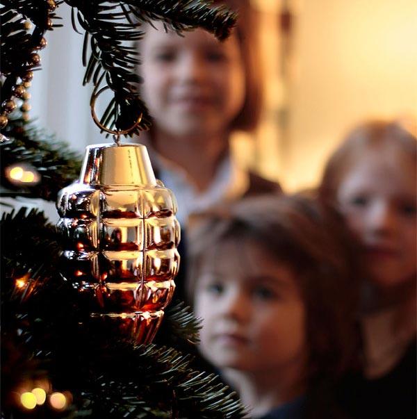 Hand Grenade Christmas Ornaments