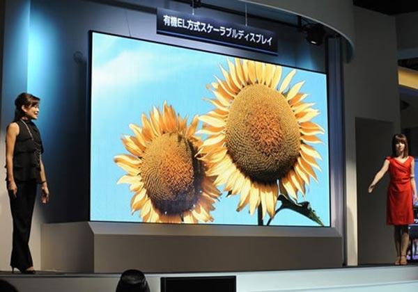 Mitsubishi's 155 Inch OLED TV