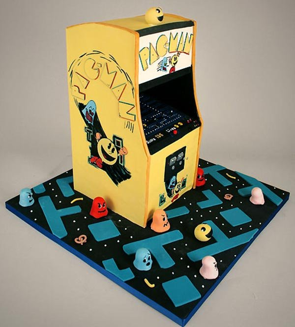 Pac-Man Arcade Game Cake