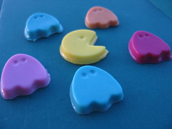 Pac-Man and Ghost Soaps