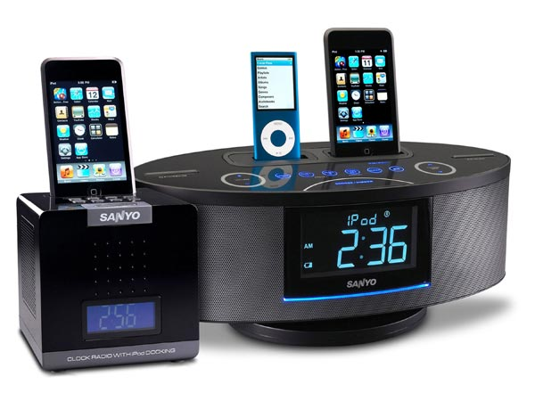 Sanyo Launches Two New iPod Docks