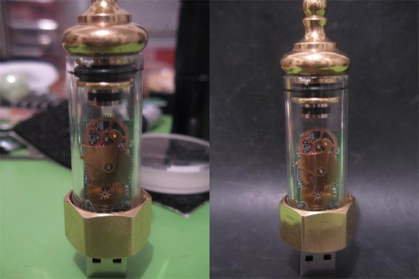 Steampunk USB Drive and Docking Station