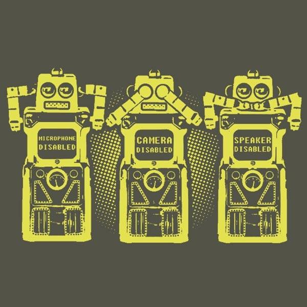 Three Wise Bots T-Shirt