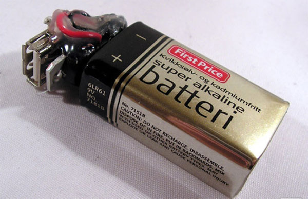 Diy 9v Battery Usb Charger