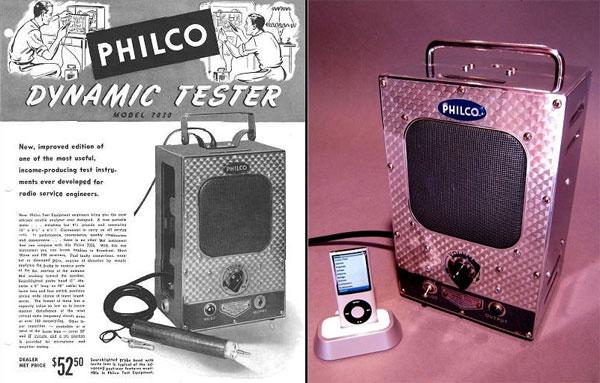 Philco Dynamic Tester iPod Dock