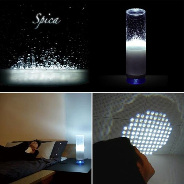 with its water back light you can project the vibrations and ripples