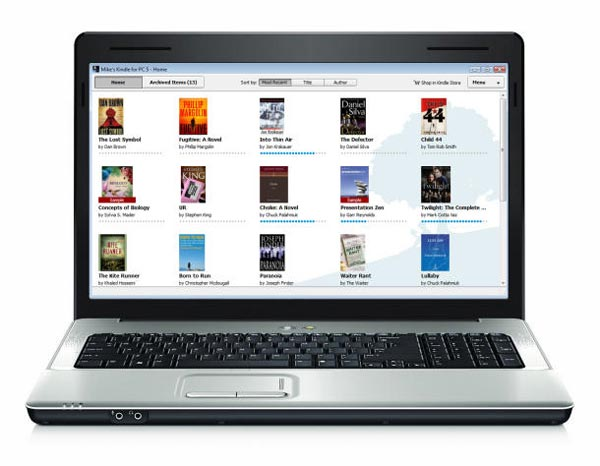 Amazon Kindle PC Application Now Available