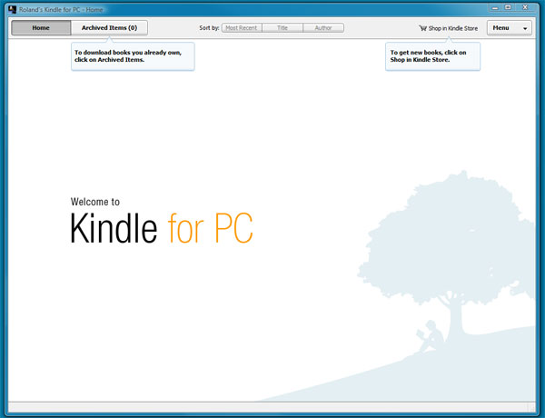 Amazon Kindle PC App