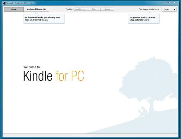 Amazon Kindle PC App