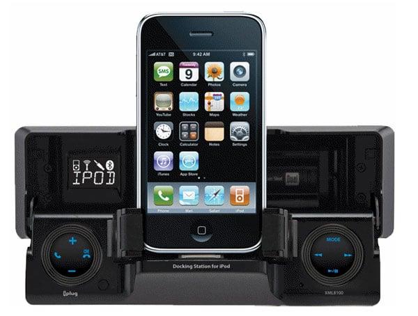 flip down car stereo dock