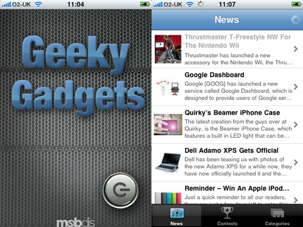 Geeky Gadgets Free iPhone App - Sneak Preview