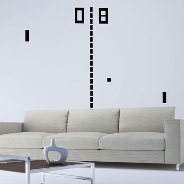 Giant Pong Vinyl Wall Decal