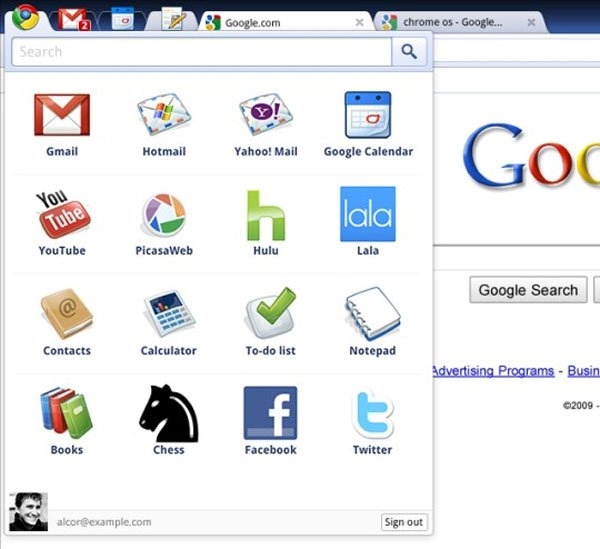 Google Chrome OS Revealed