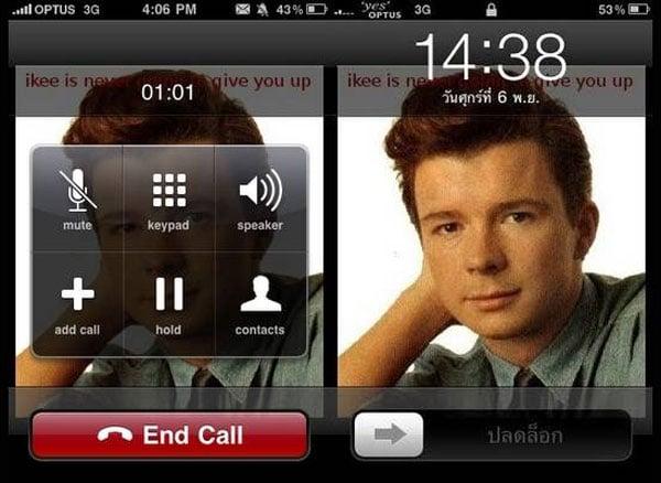 iKee Rickrolling iPhone Worm