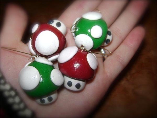 Mario Mushroom Christmas Tree Ornaments