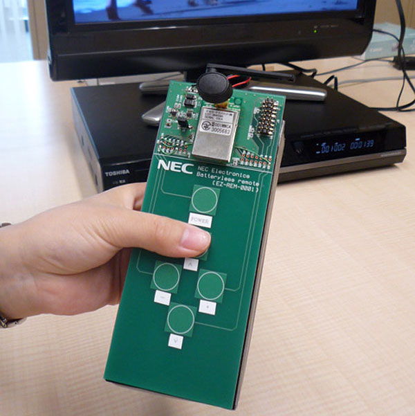 NEC Develops Battery Free TV Remote Control