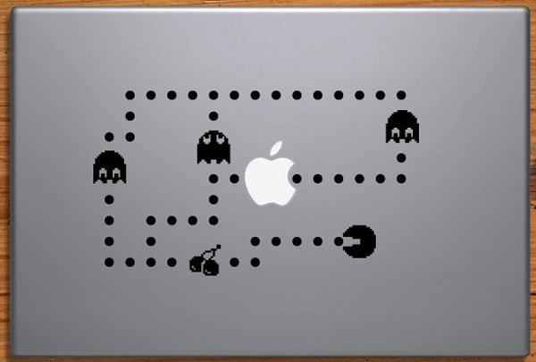 Pac-Man MacBook Decal