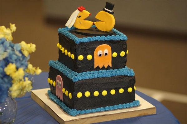 Pac-Man Wedding Cake