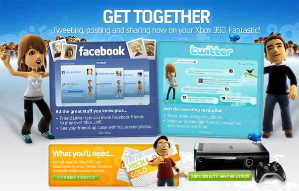 Two Million Xbox 360 Owners Use Facebook In The First Week