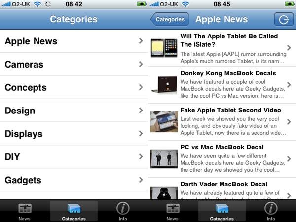 Geeky Gadgets iPhone App