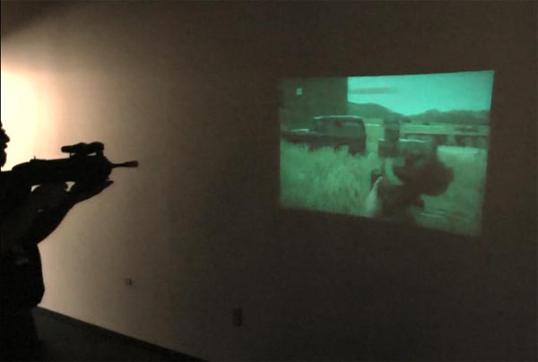 Microvision FPS Prototype Gun With A Pico Projector