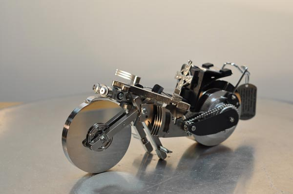 Recycled Hard Drive Sculptures