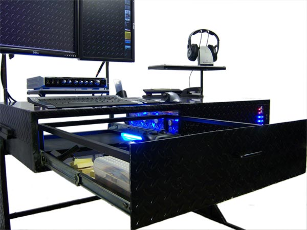 desk hlung tisch wasserk pin riing watercooled pc thermaltake mod fans mit core