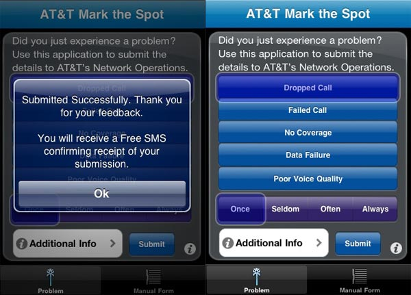 AT&T Mark The Spot iPhone App