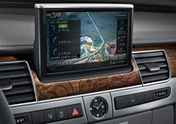 New Audi A8 Will Feature Google Earth Sat Nav System