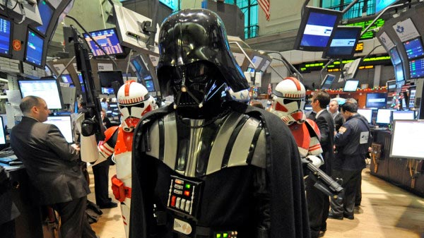Darth Vader Rings The Opening Bell At The NYSE