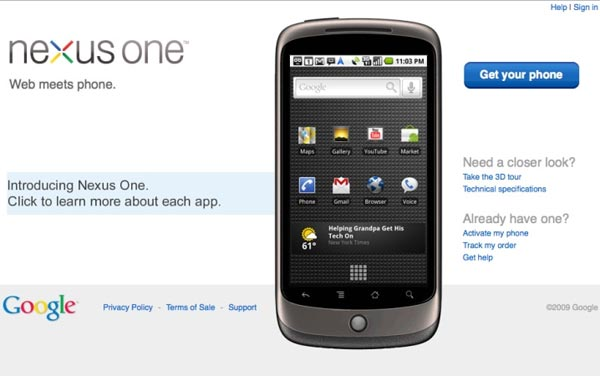 Google Nexus One Pricing Details Leaked