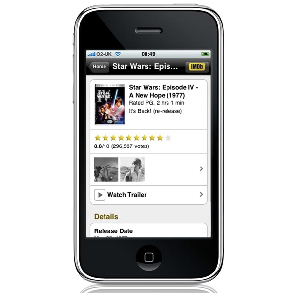 IMDB iPhone App Released