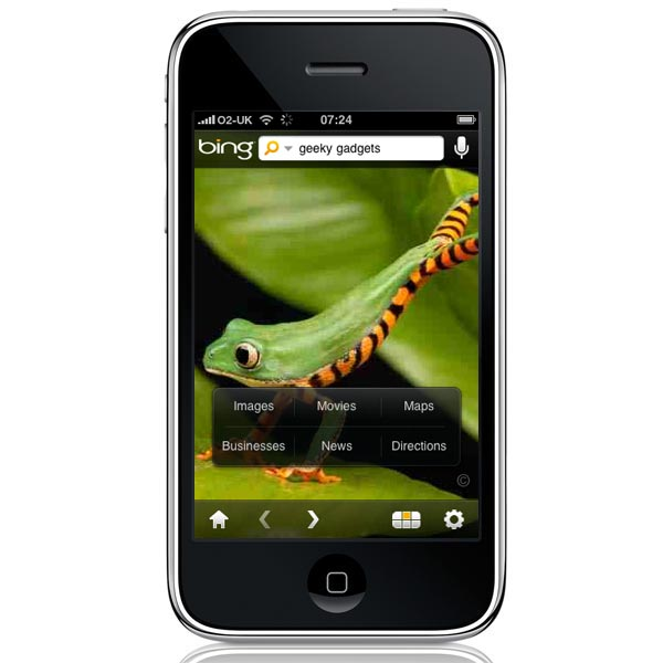 Microsoft Launches Bing Iphone App