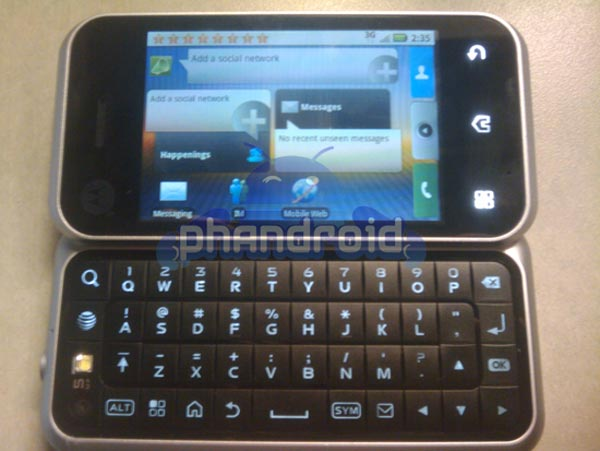 Motorola Backflip/Enzo Google Android Mobile Phone Leaked