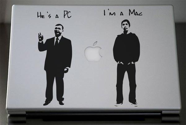 PC vs Mac MacBook Decal
