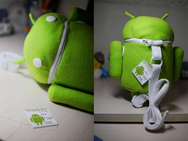 Android Robot Plush Bag