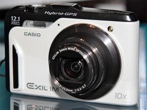Casio EX-10HG Compact Digital Camera Features Hybrid GPS
