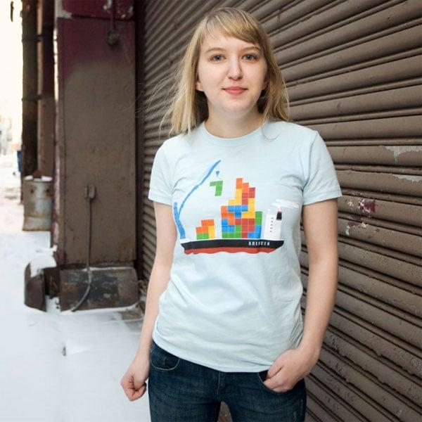 Russian Cargo Tetris T-Shirt