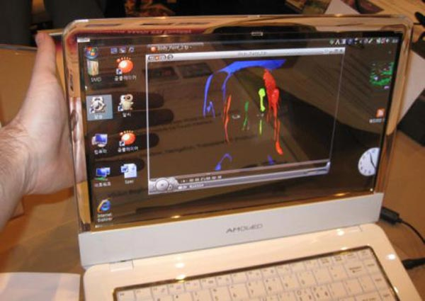 Samsung Transparent OLED Display Notebook