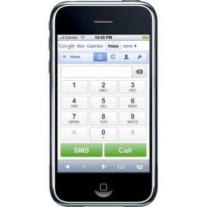 Gooogle Voice Now Available On The iPhone, Palm Pre With a HTML5 Webapp