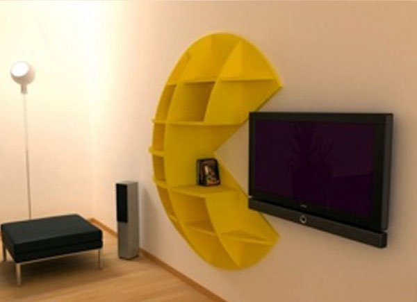 The Pac-Man Bookcase