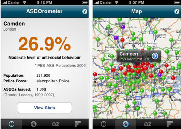 ASBOrometer iPhone App Launches In the UK