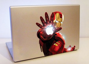 Colorful Iron Man MacBook Decal