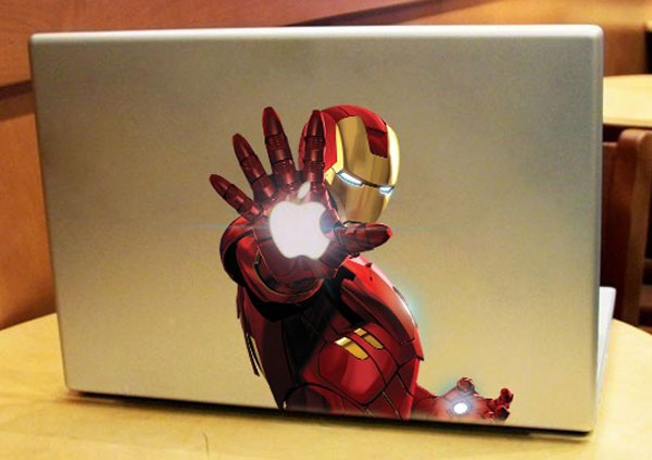 Colorful Iron Man MacBook Decal
