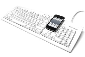 Matias USB Keyboard With Built In Smartphone Stand